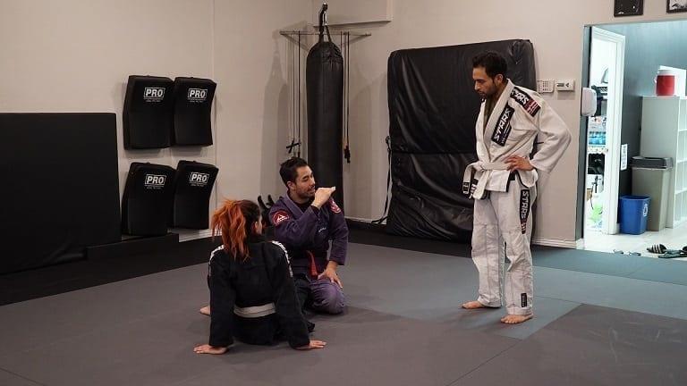 Professor Gino in a 1-on-1 private training session Jiu-Jitsu or Muay Thai