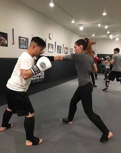 Jessica training Muay Thai Kickboxing at Silanoe San Gabriel Alhambra