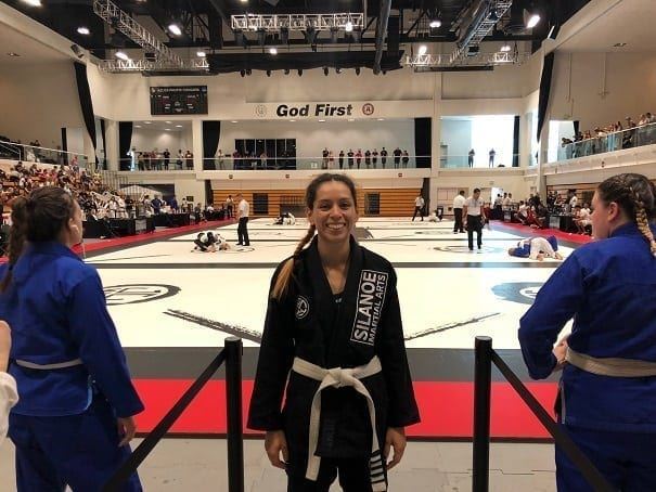 Jessica representing Silanoe Martial Arts at Jiu Jitsu World League World Championship