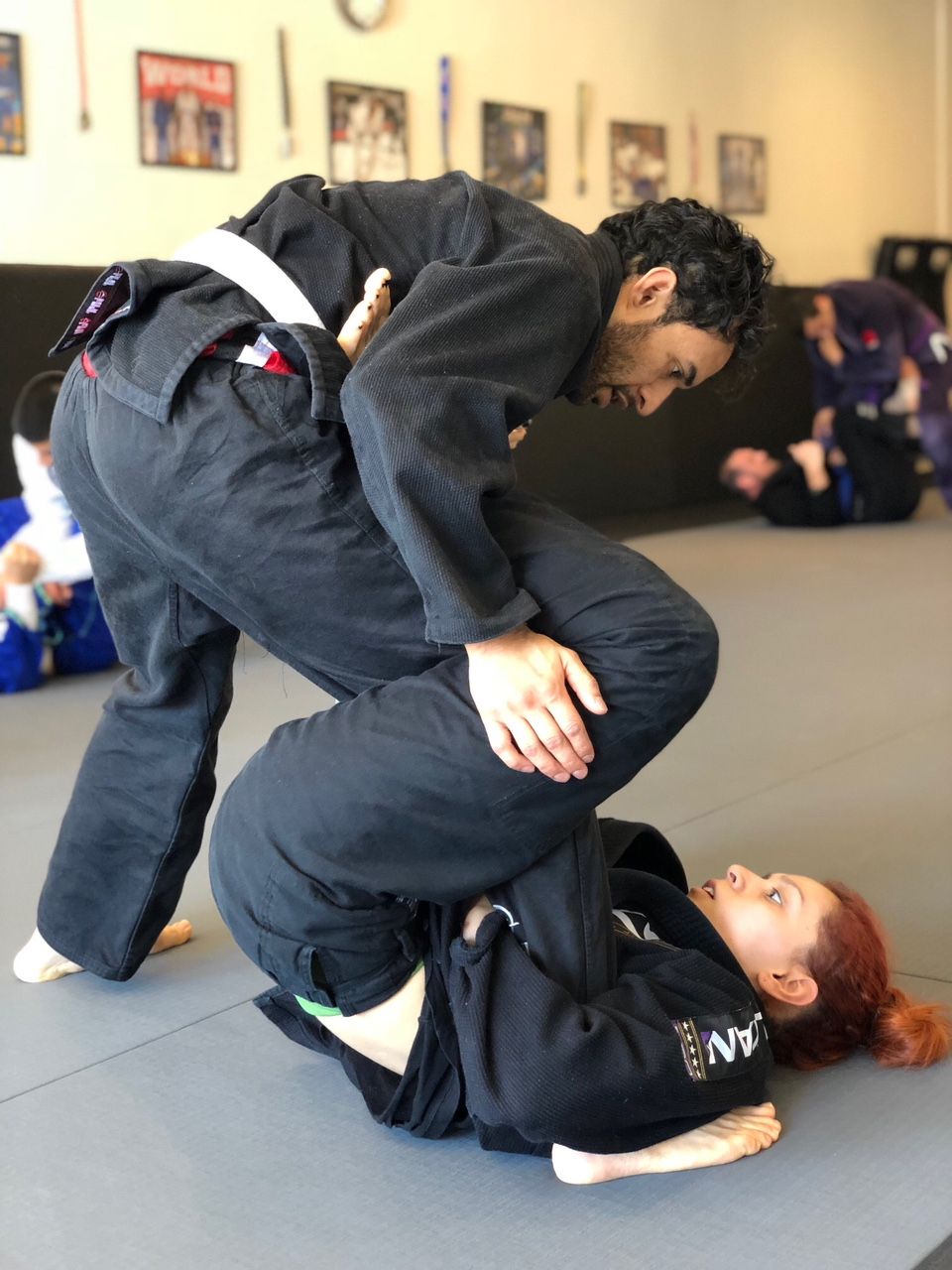 Jessica training at BJJ Adults Silanoe program in San Gabriel Alhambra
