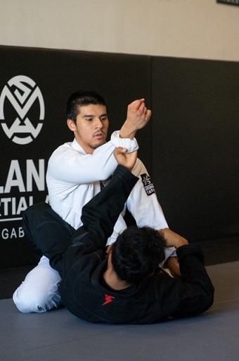 Josh in the Adult Jiu Jitsu program at Silanoe San Gabriel Alhambra