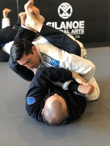 Jorge and Dan working on their armbar technique at our San Gabriel Alhambra adjacent location