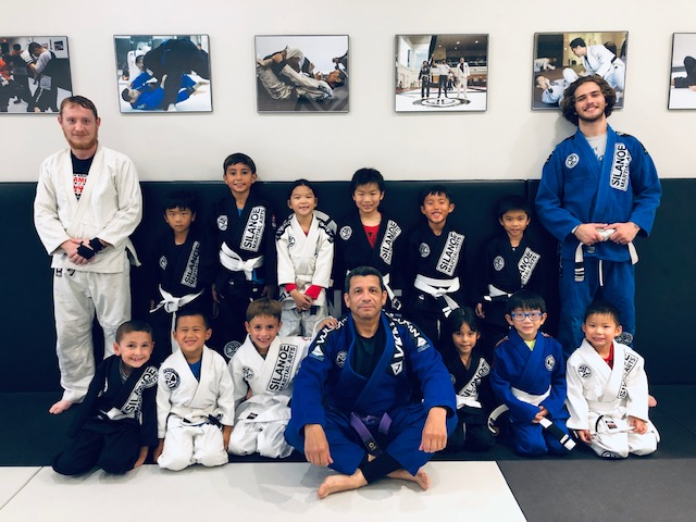 The Kids 1 BJJ program with the coaches and instructors at Silanoe Martial Arts