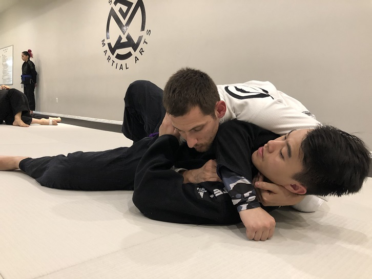 Paul Rocha with friend Tommy in the Beginner Jiu-Jitsu class at our San Gabriel Alhambra adjacent location